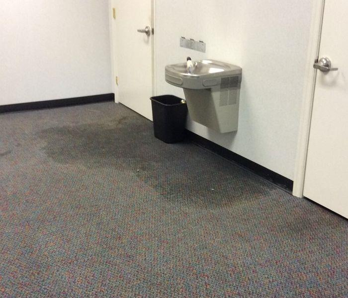 Water Fountain Leak Before